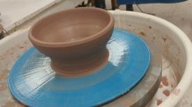 Work in progress: bowl on the wheel